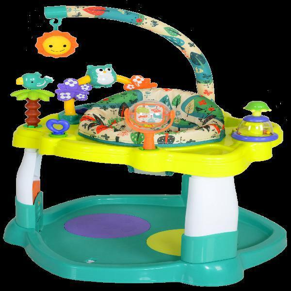 Baby Bouncer Activity Center Jumper with 360 Degree Rotating Seat Play Toy Bar