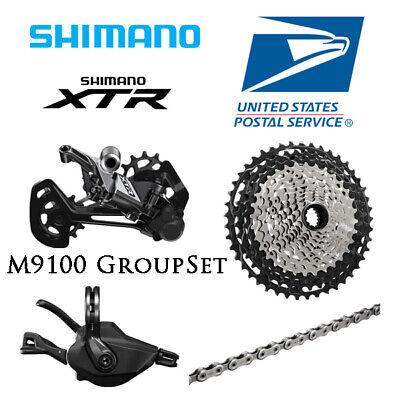 Shimano Race XTR M9100 4pcs Groupset 1x12 Speed 10-51T Mountain Bike Black