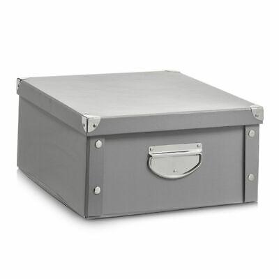 Zeller Caja de Almacenamiento Cartón Pappkarton Cajetilla Multiuso