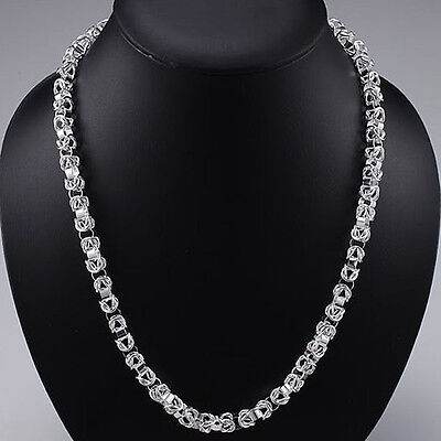 Cool 925Sterling Silver Dragon Head T-O Strong Men Chain Necklace YN060