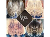 Hair extensions la weave bonded micro nano beads individual removal maintenance beauty works