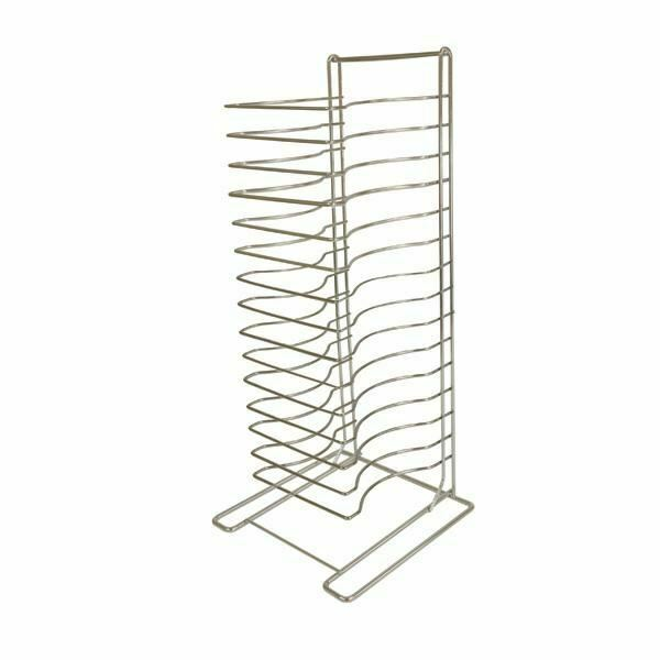 15 Tiers Pizza Pan Storage Rack, Welded, Chrome