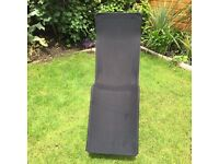 Sun lounger from habitat thick canvas metal frame