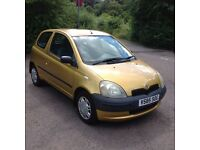 "1999 V Reg Toyota Yaris 1.0L Car For Sale Mot-07-2017 """"Long Mot"""" Cheap Price Only £549 ONO"