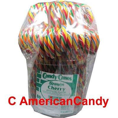Grosse Zuckerstangen: Spangler Eimer mit 160 BIG Candy Canes CHERRY (24,55€/kg) ()