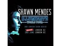 Shawn Mendes Tickets x4 2nd June O2 London, Face Value!