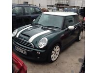 Mini Cooper s breaking