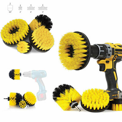 Wheel Brush Tire Kit Rim Cleaning 4 Pcs Drill Brush Car Detailing Attachment Set