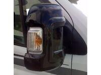 Milenco Motorhome Mirror Protectors/Guards 1 Pair Long Arm Version (Black) Fiat Ducato Peugeot Boxer