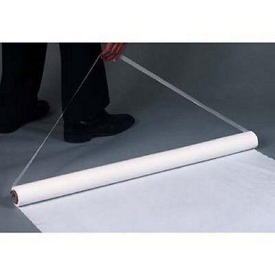 100' White Poly  (Plastic) Wedding Aisle Runner W/Tape&Rope