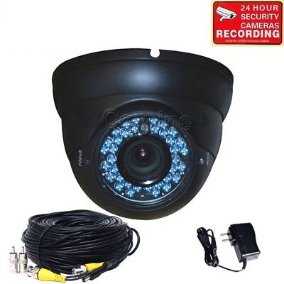 Vandal Proof Infrared 36 Led - Security Camera CCD 36 IR LEDs Night Infrared Zoom 4-9mm Lens w/ Cable Power A45