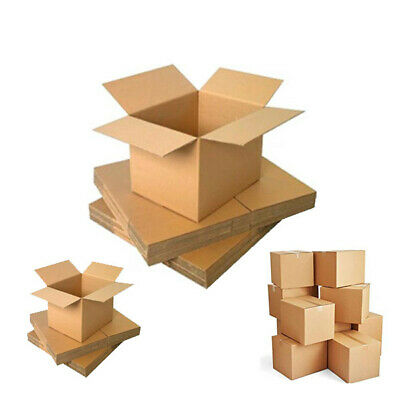 Postal Cardboard Boxes Removal Easy Assemble DW 18 x 12 x 12 Cartons Pack of 35