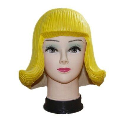 1 Pieces Yellow Latex Wigs Headgear Halloween Mask Makeup Funny Prop Cosplay