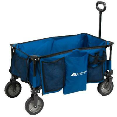 Folding Wagon Cart Collapsible Outdoor Beach Camping Garden