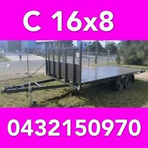 16x8 tandem table top trailer flattop flatbed aus made 14x8 12x7 10x7