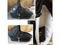 Icandy Apple carrycot and raincover immaculate condition
