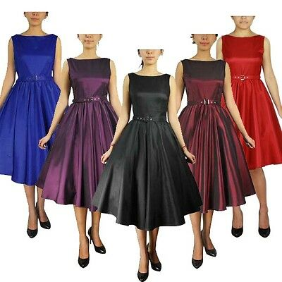 Rockabilly Pinup Vintage Retro Swing Prom 50's Dance retro Dress Plus Sizes 8-28