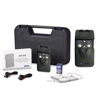 Portable Dual Channel Tens Unit With Timer And Electrodes