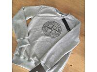 New season stone island rubber emblem crew neck jumpers