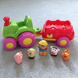 Musical Toy Tractor and Animals