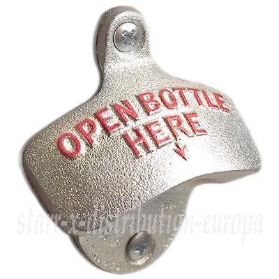 USA WANDFLASCHENÖFFNER Bier WAND FLASCHENÖFFNER orig. STARR X Open Bottle Here