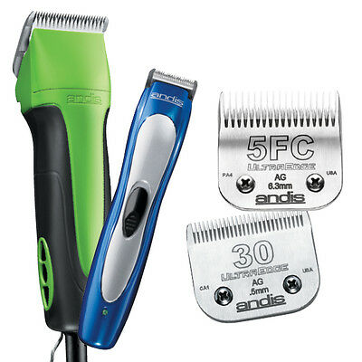 65450 Kit - Lime Green Excel 5 Speed Clipper Dog Pet Grooming Set Kit Inc Trimmer & 2 Blades