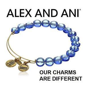 NEW ALEX AND ANI BEAD BRACELET - 102995055 - JEWELLERY - JEWELRY - LUXE BEAD BANGLE - SAPPHIRE GOLD