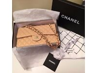 BN Timeless Chanel 2.55 Double Flap Bag- Cream/Beige Leather