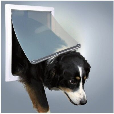 Trixie Pet 2 Way White Plastic Flexible Silent Dog Cat Door Flap Xs