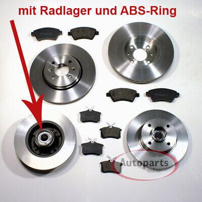 2x Bremsscheibe Radlager ABS hinten links rechts Citroen C3 C3 Picasso DS3