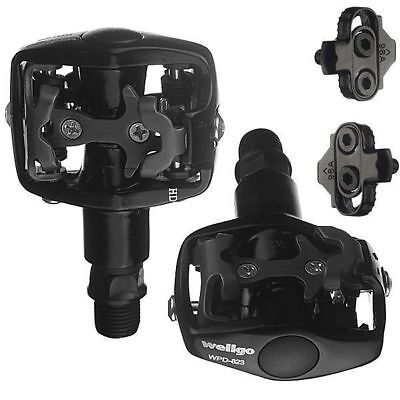 - Wellgo Mountain Bike Clipless Pedals Shimano SPD With Cleats