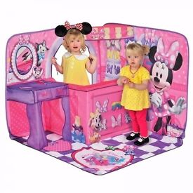 Brand new in box girls minnie mouse 3D pop up boutique tent- pretend role play