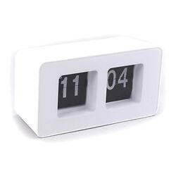 Desktop Retro Flip Clock -White ABS Material Quality
