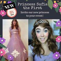 Princess parties Princess Sofia Elsa Anna Rapunzel Elena Ariel