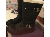 Ugg Kensington black leather boots. Size 5.5