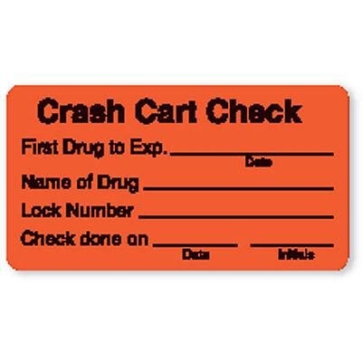 Crash Cart Check Labels 3w X 1.625h 320 Roll