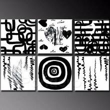 Black & White | Modern Art Multi Panel Hand Painted City North Canberra Preview