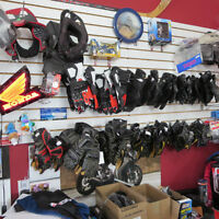 Lots Of Motorcycle Gloves In Stock New and Used Gloves