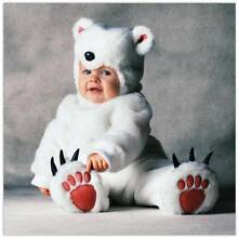 Brand new Tom Arma Polar Bear baby Costume 12-18months Halloween Hammond Park Cockburn Area Preview