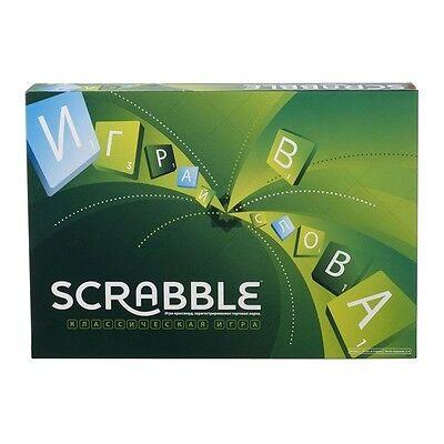 SCRABBLE MATTEL ORIGINAL BOARD GAME RUSSIAN EDITION BRAND NEW