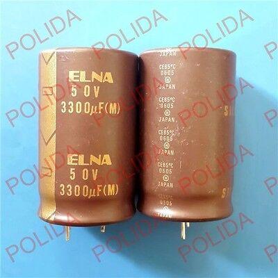 1pcs Elna Silmic Audio Electrolytic Capacitor 3050mm 3300uf50v 50v3300uf