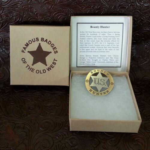 US Bounty Hunter Badge, Replica, 1 Gold, 1 Silver