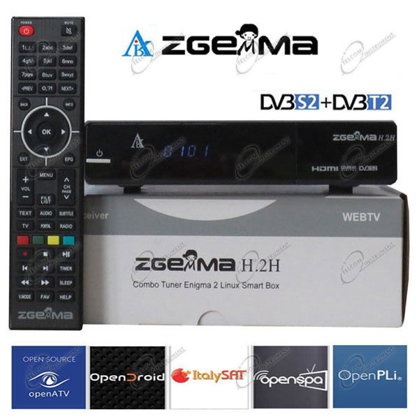 Decoder ZGEMMA H2H Combo HD DVB-S2/T2 e IPTV è ricevitore zgemma h.2h