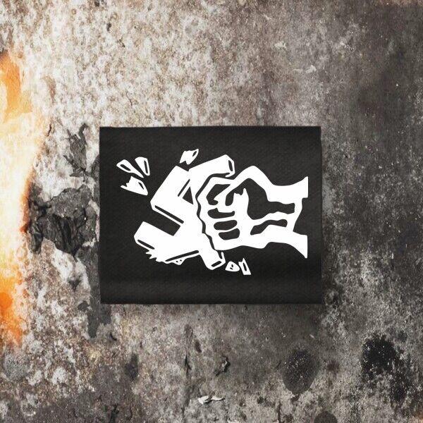 Patch Motiv gegen Nazis, 6,5cm x 4,3cm