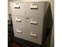 Bisley index card drawer units 6x4