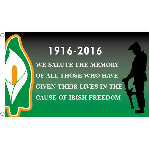 Easter Rising Irish Freedom 1916 - 2016 Flag - 5x3