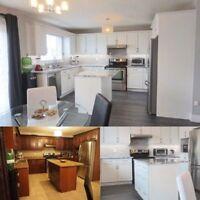 Kitchen Cabinet Spraying/Refinishing/Refacing