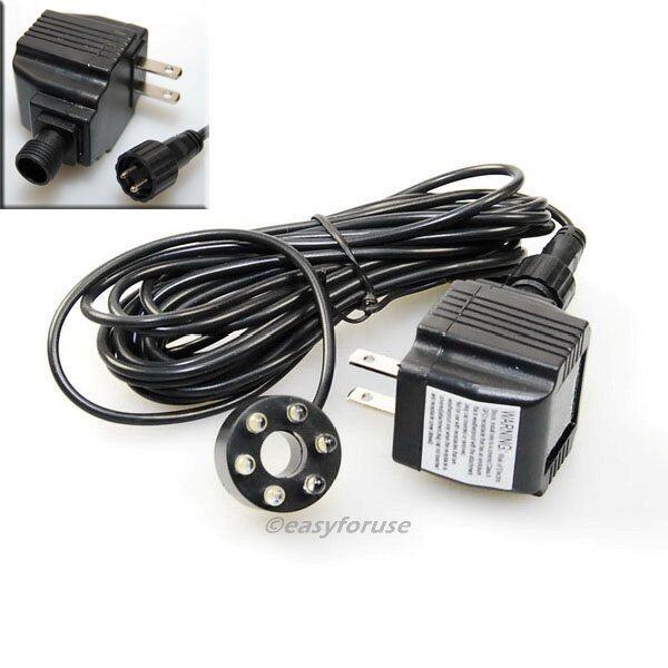Underwater 6-LED Light Ring For Fountain Fish Pond Water Garden with Transformer