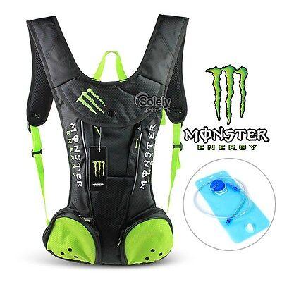 NEW 2L Kawasaki Monster Hydration Water Bladder Bag Pack Cycling Hiking Backpack