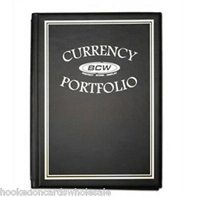 1 BCW Black Currency Portfolio Combo Album 10 Pages included Holds 30 Bills